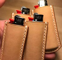 Cool Smoking PU Leather Portable Lighter Protect Case Sleeve Holder Cover Shell Innovative Design Skin Casing Cigarette Tool DHL Free