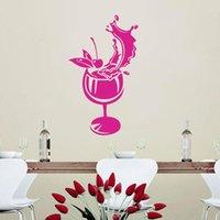 Stickers muraux papier peint Art Cuisine Décalque Accueil Décoration Poster Décor Mural Décor Sticker Gourmet Cocktail Verre