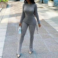 Women's Suits & Blazers Two Piece Set Ropa Para Mujer Autumn Women Clothing Bandage Drawstring Long Sleeve Top+Slim Pants Female Flare Stree