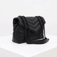 럭셔리 디자이너 핸드백 Loulou 모양의 솔기 가죽 숙 녀 금속 체인 어깨 가방 고품질 플랩 가방 메신저 가방 도매