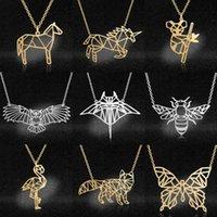 Yutong LavixMia Authentic Edelstahl Pferd Fox Schmuck Halskette Großhandel Weibliche einzigartige Wildtier Eule Halsketten Dropshipping