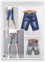 Lüks Tasarımcı Son Listin Erkek Kot Yaz Tasarım Kısa Denim Pantolon Pamuk Vintage Moda Slim-Bacak Işık Eashed Yıkanmış Boyutu 29-40