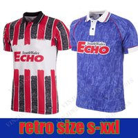 Top Qualité Gallois Cup Wales Cardiff 1993 1994 Home Away City Retro Football Shirt Soccer Jersey 93 94 Scott Young Nathan Blake Classic Vintage Football Shirts