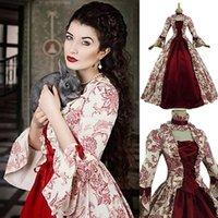 Lässige Kleider Mode Frauen lange Kleid Party Kostüm Vintage Gothic Court Square Kragen Patchwork Bogen Plus Größe Mittelalterlich # 40