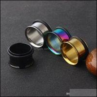 플러그 터널 JewelryGauge 플러그 스테인레스 스틸 단일 플레어 플러시 터널 96pcs / lot 믹스 3 색 귀 expander 테이퍼 피어싱 바디 쥬얼리
