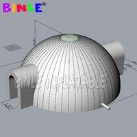 Tents de dôme gonflables de sphère gonflable de tissu de 8 m d'oxford avec des lumières LED, grand chapiteau de parti Igloo pour les événements