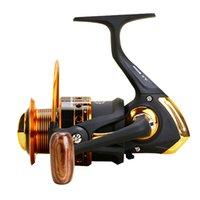 Novos bobinas de fiação metálica completa 12 + 1BB fiação de pesca de pesca carpa de pesca roda de pesca bobina 500-9000 Série