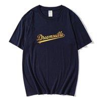 T-shirts Hommes Camiseta de Algodão Puro Homem Hip Hop Dreamville J Cole Logo Mango Lettre de proie Curta