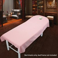 Sheets & Sets Microfiber Table Cover Comfortable Soft Salon Machine Washable Bed Sheet Plain Massage SPA Home Couch Polyester Bedding Articl