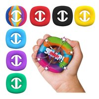 Rainbow Fidget Grip Grip Squeeze Giocattolo Mani Mani Mani Forza Grabs Squeezy Snap Sensory Toys Autism Stress Relief CT24W