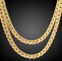 """Fine wedding Jewelry 100% real 18k Yellow stylish simplicity 23.6 """" 6mm wide 14k gold men jewelry necklace snake chain not solid not money"""