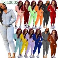 Women Tracksuits Two Piece Set Designer Outfits Fall Hoodies Coats Pants Zipper Jacket Plus Size Casual Ladies Jogger Set Clothes
