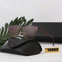راي خمر الطيار العلامة التجارية الشمس النظارات الفرقة الاستقطاب uv400 حظر الرجال النساء بن النظارات الشمسية مع مربع والقضية 3576