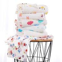 Baby Bath Towel Muslin 6 Capas 100% algodón Toallas arrugadas Veersucker Neonatal Niño Color Sólido Absorber Manta Swaddle Wrap Ropa de cama Niños Edredón WMQ847