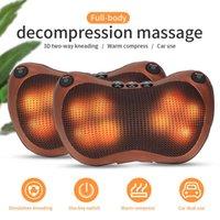 Head Neck Massager Car Home Cervical Shiatsu Massage Neck Back Waist Body Electric Multifunctional Massage Pillow Cushion Q0519