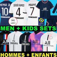 Paris Saint Germain Maillots de futebol 20 21 PSG Jersey de futebol 2020 mbappe icardi camiseta homens crianças maillot de pé hommes enfants kimpembe di maria kean marquinhos