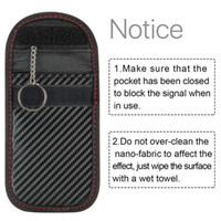 New arrival 2019 Newest Hot 1pc Anti-theft Car Key Fob RFID Signal Blocker Faraday Signal Blocking Pouch Bag Key Wallets
