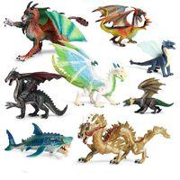 Simulación Flying Dragon Dinosaurios Dinosaurios Novedad Juegos Figura Figura Animal Modelo Colección Niños Educación Juguete Regalo Adorno