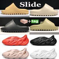Yaz Terlik Çöl Kum Reçine Kemik Erkekler Kadınlar Slayt Ayakkabı Moda Köpük Koşucu Üçlü Siyah Ararat Soot Earth Kahverengi Plaj Serin Sneakers