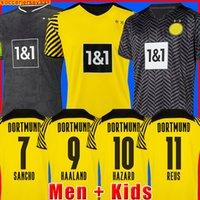HAALAND REUS Borussia 21 22 Dortmund Soccer Jersey 2021 2022 قميص كرة القدم BELLINGHAM SANCHO HUMMELS BRANDT رجال + أطفال طقم زي
