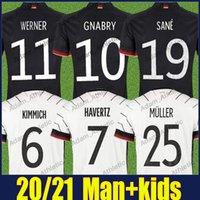 الألمانية لكرة القدم الفانيلة المنتخب الوطني زي Deuterscher Kimmich Gnabry Havertz جيرزي Sane Kroos Hummels Muller Football Shirts Gundogan Goretzka Man Kids