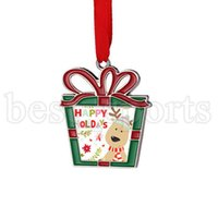 승화 빈 금속 크리스마스 장식 열 전달 산타 클로스 펜던트 DIY 크리스마스 트리 장식 쓰기 가능한 크리스마스 선물 ZZA3290