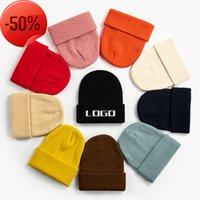 New France fashion beanies hats bonnet winter beanie knitted wool hat plus velvet cap skullies Thicker mask Fringe man