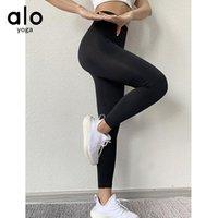 Alo Yoga Pantolon Yüksek Bel Push-Up Kalça Eğitim Spor Koşu Tozluk Fitness / 50 Kıyafetler