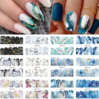 12 Designs Pcs Gradient Marble Nail Art Stickers Flower Letter Leopard Cartoons Sliders for Nails Anime Water Transfer Decals Manicure DIY Decorations Accessories