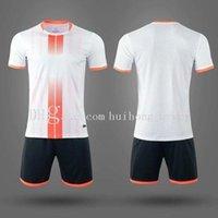 Blank Kids Soccer Jersey Short Set Adult Football Kits Clothes Men Tracksuit Children Training Suit Sport Wear Uniformf