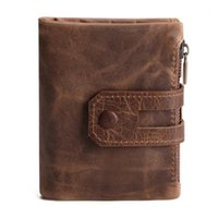 Men Wallet Genuine Cow Leather Business Card Holder Man Coin Purse Small Passport Pouch Short Mini Male Clutch Wallets1