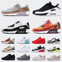 Nike Air Max Mirmax 90 Off White Zapatillas de correr profesional para hombres para mujer Zapatillas deportivas Tamaño grande US 12 Cool Grey Pink Glasgow Black Hombres Mujeres