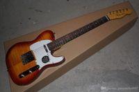 Instrument de cou d'érable flamme Custom Shop Photo de vraie photo Ameican Sandard Vos Sunburst TL Guitare électrique