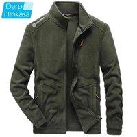 Darphinkaşa Kış Sıcak Polar Ceket Erkekler Marka Rahat Moda Kalın Erkekler Parkas Ceket Kaban Artı Boyutu 5XL 210901