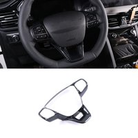 CarMango for Ford Escape Kuga 2020-2021 Car Accessories Steering Wheel Trim Cover Frame Sticker Interior Decoration Mouldings