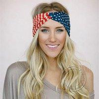 Unisex American Bandiera American Cotton Elastic Plothban Torches per le donne USA Star Stripes Bow Fascia Fascia Fascia per capelli Bandana Capelli Capelli Clips BA