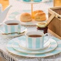 Cups & Saucers Nordic Style Tea Cup Set Vintage Utensil Porcelain Wedding Bone China Dinnerware Sets Gold Rim Ceramic Xicara Drinkware EB50B