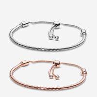 Bracelet de designer Pandora S Femmes Bijoux Moments Snake Chaîne Snake Charme Charme Design Mode Classic Lady cadeau avec boîte originale