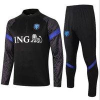 Erwachsene und Kinder Niederlande Fußballjacke de Jong Trainingsanzug 2021 De Ligt Chandal Virgil Fussball Jersey Memphis Trainingsanzüge Sports tragen