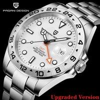 디자이너 시계 브랜드 시계 럭셔리 시계 Matic Mechanical GMT 42mm 사파이어 스테인레스 스틸 방수 Reloj Hombre