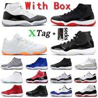 NikeAirJordanRetro11Jordans11sJumpmanAJ MIT BOX retro Basketball-Schuhe der Frauen Männer Concord Bred High Low Retro Space Jam-Trainer-Turnschuhe Größe 47