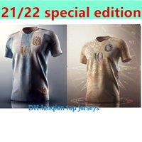 2021 الأرجنتين مفهوم Soccer Jersey Maradona Badge عناصر ذهبية تذكارية طبعة ميسي الإصدار الخاص قميص