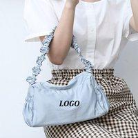 Underarm Simple Nylon Handbag Fashion Fold Shoulder Strap Handbag Custom Designer Oxford Shoulder Tote Bags Women Sling Bag