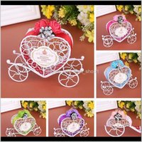 Wrap Carriage Designed Hollow Sugar Candy Box Packing Wedding Birthday Decoration Chocolate Gift Package Case Holder Party Rfpqm Z4Xyp
