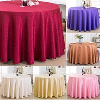 Table Cloth Jacquard Waterproof Thick Elegant Solid Color Tablecloth Liquid Repellent And Stain Resistant Round