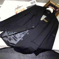 Alta qualità Spring 21 New Braccio Label Label Tide Tempo libero Coat Cappotto uomo e donna Abito nero temperamento allentato