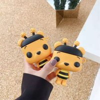 3D Cute Cartoon Bee Silicone Earphone Cases For Apple Airpods 1 2 3 Wireless Protective Cover Shockproof Headset Case for Airpod Pro