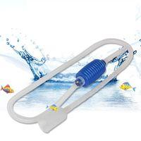 Fish Tank Air Pump Rubber Transparent Simple Aquarium Water Changer Sand Washing Device Tank Pipe Accesssories CCF7822