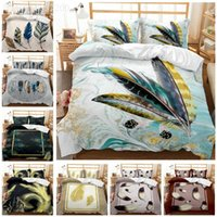 Bedding Sets Art Design Painted Plumage Set Quilt Cover Twin Bedroom Decor For Kids Boy Girl Single Queen King Size