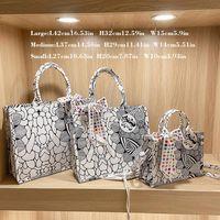 Evening Bags Designer Shoulder For Women Canvas Cotton Big Female Tote Handbags Cartoon Horse Print Luxury Ladies Hand Bag Large Shopper